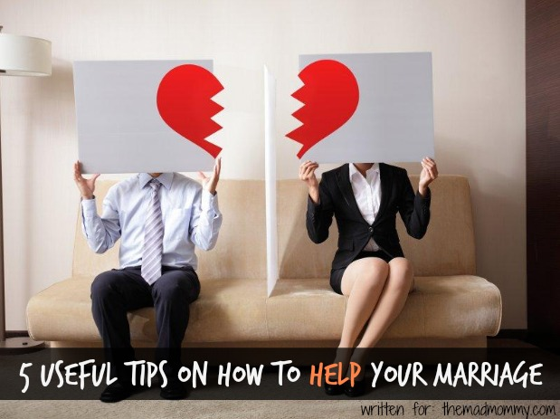 If you want to help your marriage, here are five useful tips that can help you on the way.