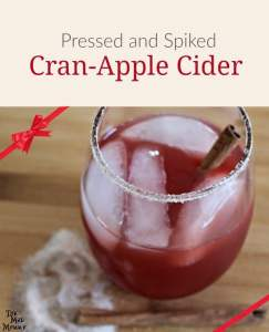 Pressed and Spiked Cran-Apple Cider