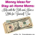 Money Ideas for Stay-at-Home Moms