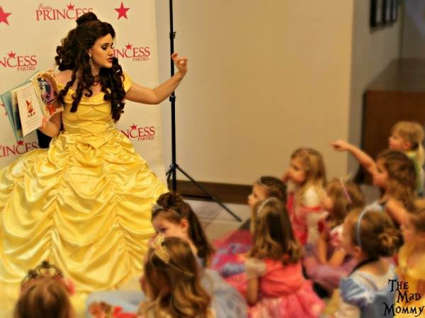 Princess Belle's storybook corner at the Pretty Princess Parties Fairytale Ball!