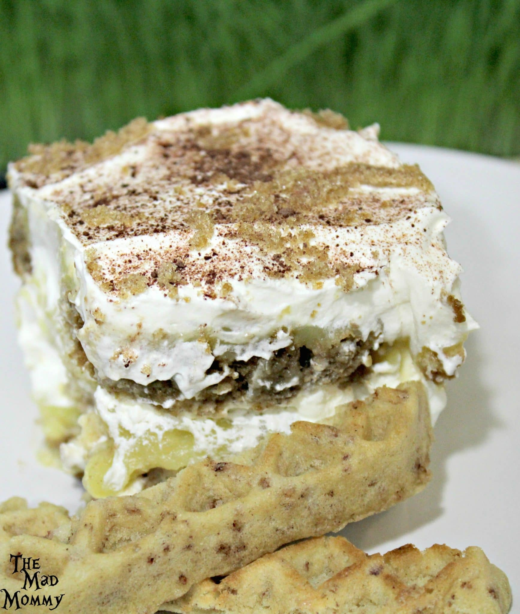 Delicious and simple Eggo Waffle Tiramisu is the perfect dessert ANYTIME! #LeggoMyEggo #HearTheNews #ad