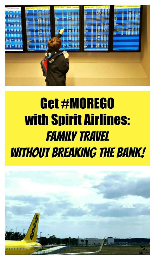 Traveling with a family can be expensive. With airfare, hotels, cars, food and activities, it can end up costing you an arm and a leg! However, flying with Spirit Airlines can help your family travel without breaking the bank. Here are some of the ways that Spirit Airlines can give you more go for less money! #Sponsored #SpiritAirlines #MoreGo