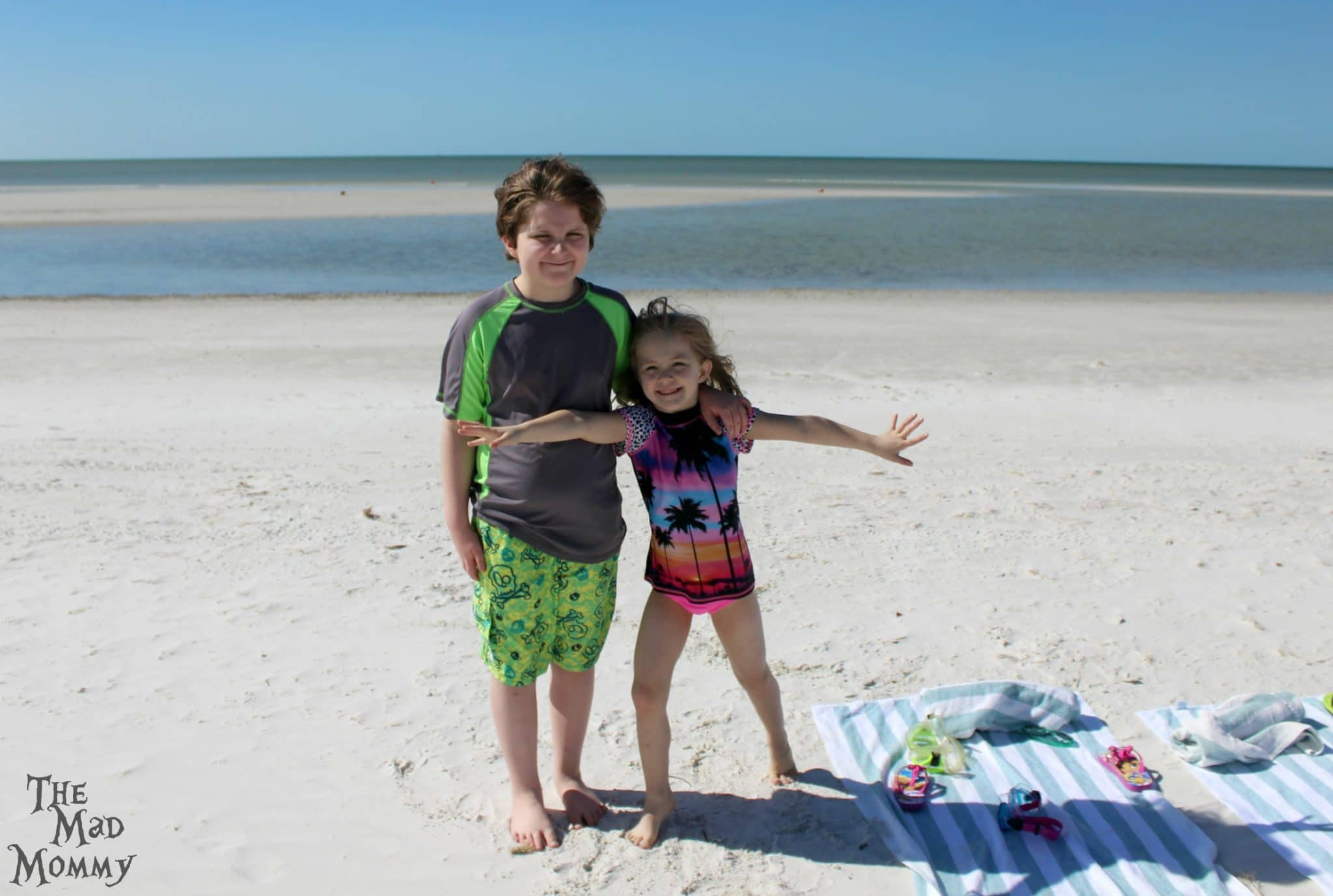 The kids loved being able to walk right out on to the beach and into the ocean!