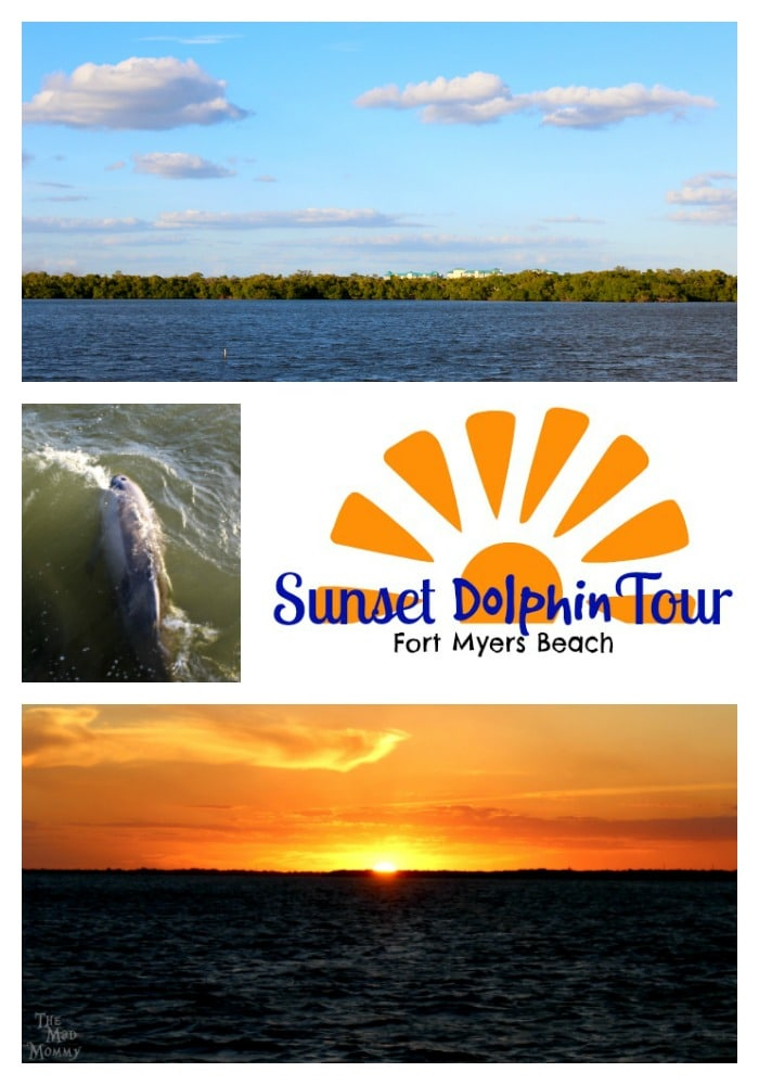We survived the flight and got our kids to Fort Myers Beach for the weekend! We explored and shelled. We stayed at an amazing resort. Oh, and we took a little Sunset Dolphin Tour!