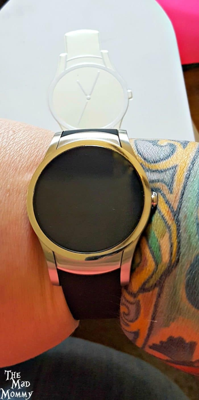 It has a really sleek look and has interactive watch-faces. Personally, it felt a little bulky and heavy on my wrist, but my husband said that he liked the fit and the band was really comfortable.
