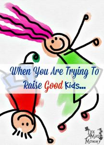 When You Are Trying To Raise Good Kids…