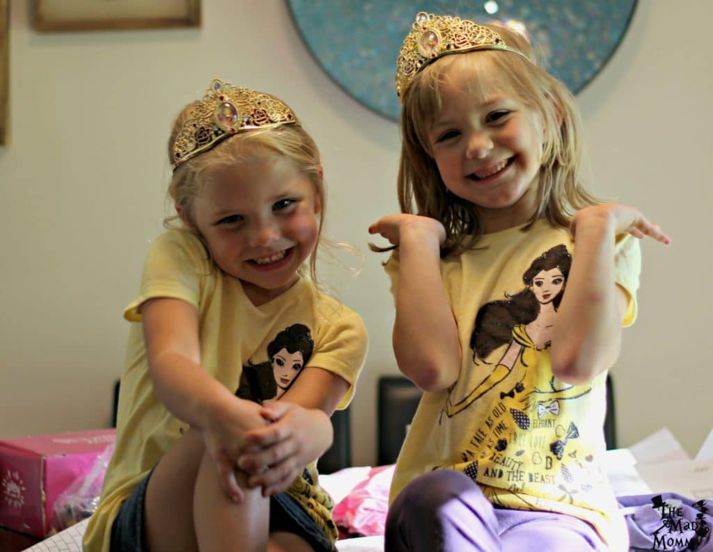 So excited about the Beauty and the Beast tiara and t-shirt from the Disney Princess PLEY.com subscription box!