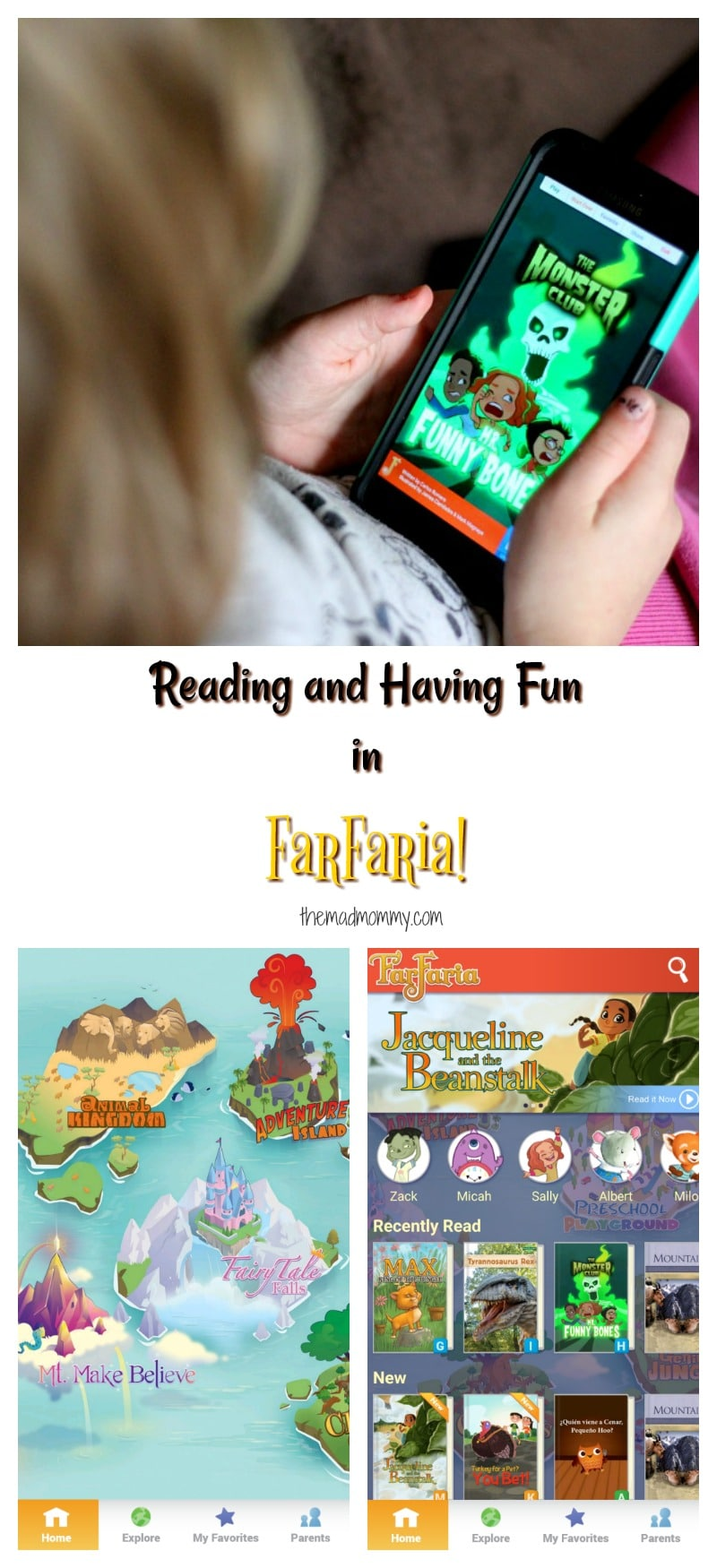 Your child can experience one book a day in FarFaria, simply by downloading the app on your apple or android devices, but there are also subscription options that open up your child's world to unlimited reading in FarFaria! #Sponsored #FarFaria