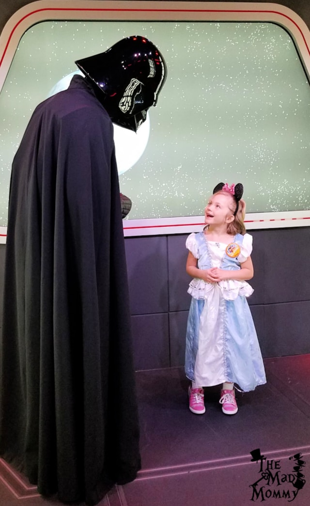 Meeting the Sith Lord at Disneyland.
