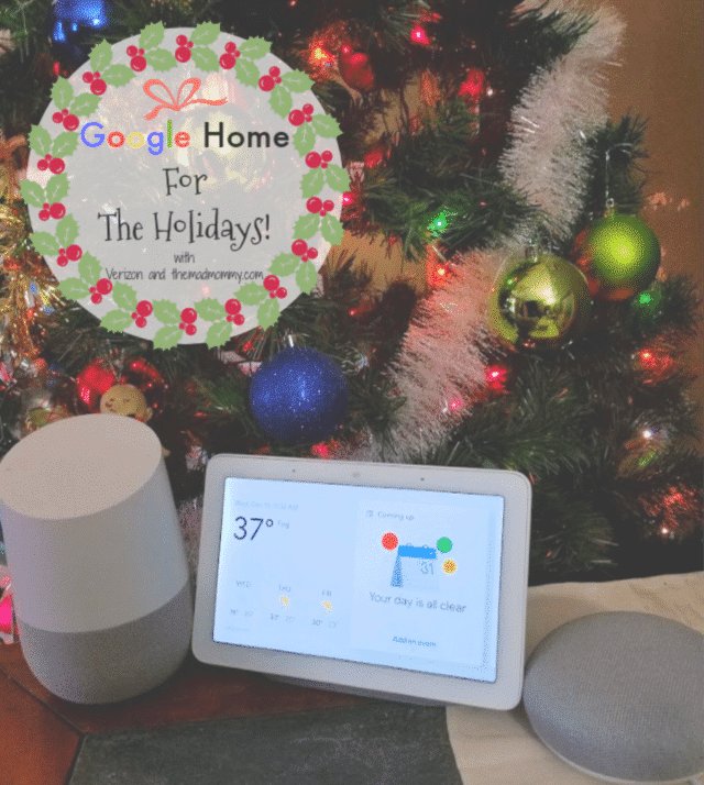 I absolutely love coming in to a lit up and cozy house. Especially, during the holidays and I get it from my Google Home friends!