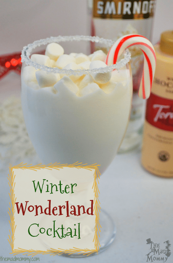 I think holiday cocktails are the best, because they can be so fun and whimsical! They can almost take you back in time, like this Winter Wonderland Cocktail, that would be perfect with some fresh cookies! Milk and Cookies for ADULTS, as it were! #SweeterTogether #Torani #Sponsored