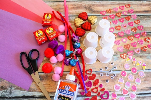 Supplies for making your own #DIY K-Cup Valentine Candy Critters!