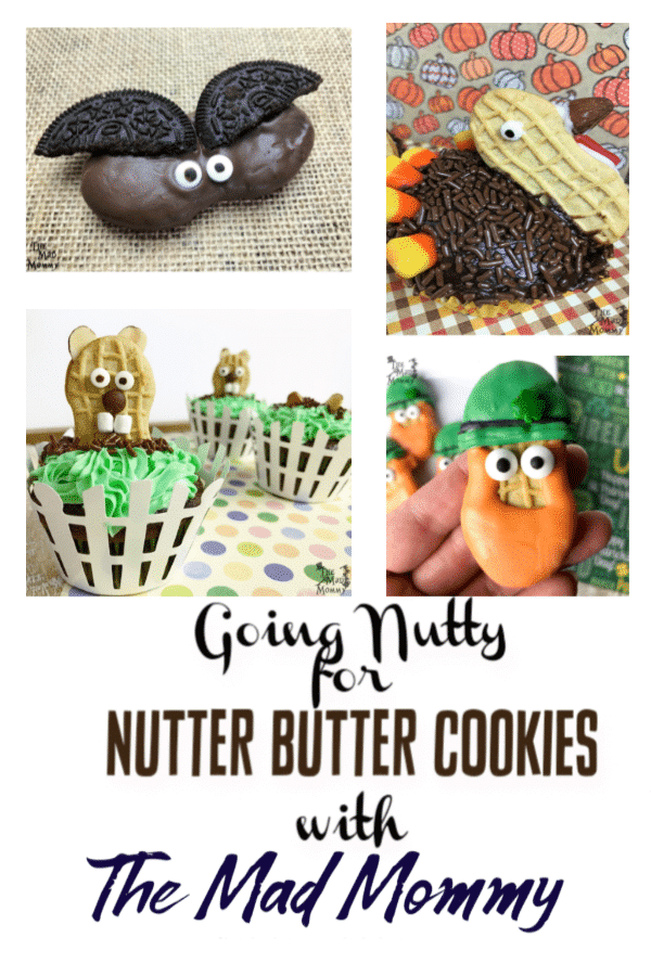 Nutter Butter cookies are one of my favorite store-bought cookies! The are delicious, with a wonderful peanutty taste, but they are not too sweet! They are great with coffee or to dip in ice cold milk. I also love adding them to layered desserts, like parfaits and cakes. But my favorite Nutter Butter Cookie recipes are when I dress the Nutter Butters up as something else!