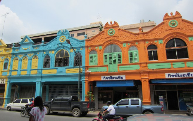 Colourful houses in Hatyai