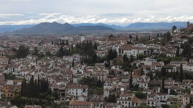 Granada under a very angry sky