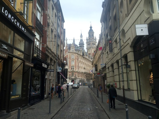 The pedestrian streets around Vieux (old) Lille are nice and a welcome break from the heavy traffic.  Lots of nice little bistros and independent shops