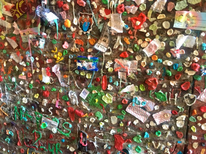 Wall of chewing gum.  Disgusting but somehow compelling