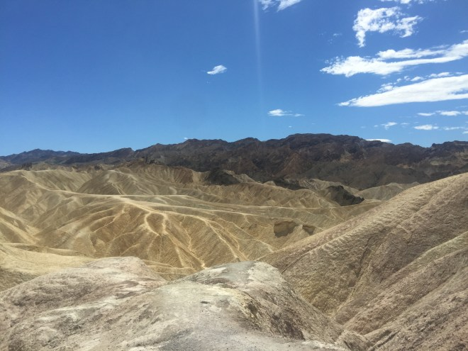 Death Valley.    It didn't get that name coincidently. Temperatures reached 48 degrees whilst we were there.