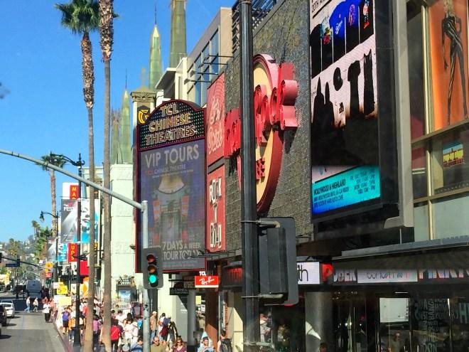 Hollywood Blvd, opposite my little room