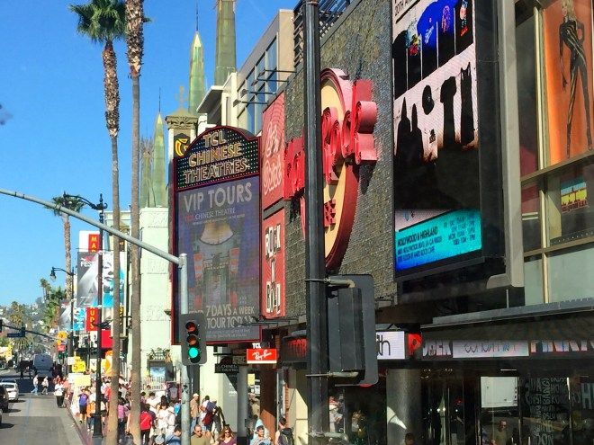 Hollywood Blvd, opposite my little room
