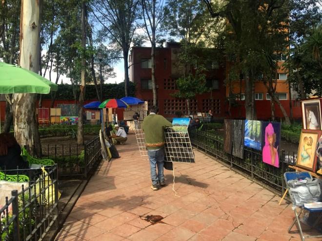 Sunday art market