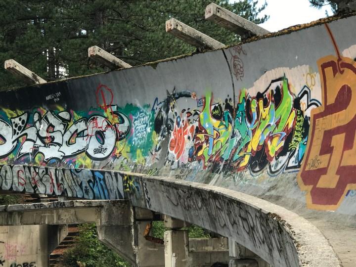 abandoned bobsleigh Sarajevo