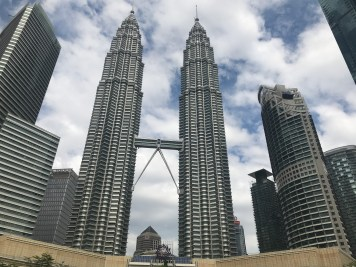 Petronas Towers; you can go almost to the top for £15/US$19