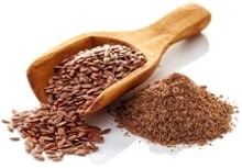 Scoop of Flaxseeds