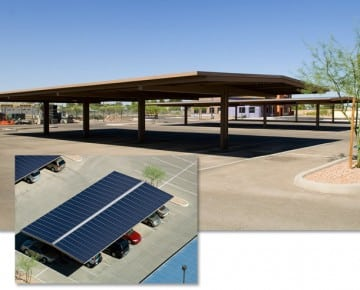 Sundial Energy solar parking structures and carports
