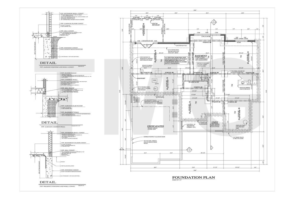medium resolution of foundation floor and electrical plans