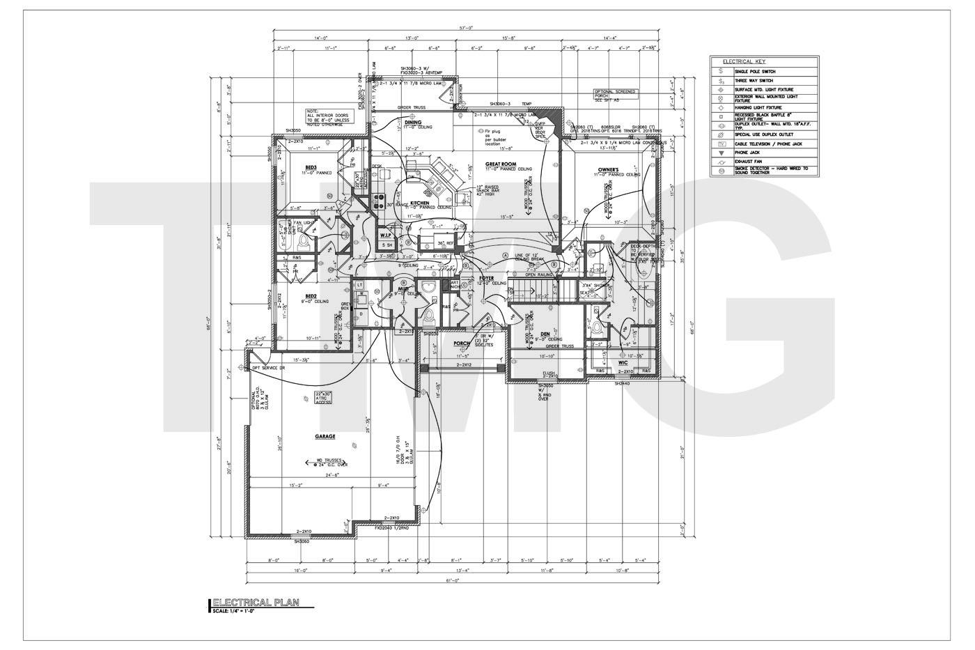 electrical plan sample drawing