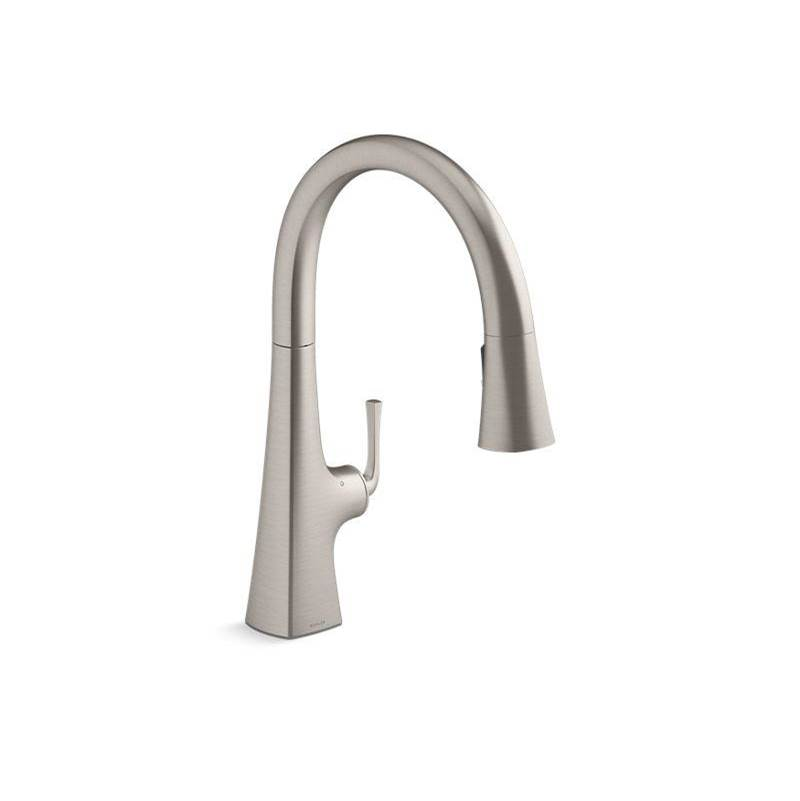 graze kitchen sink faucet with kohler konnect and voice activate