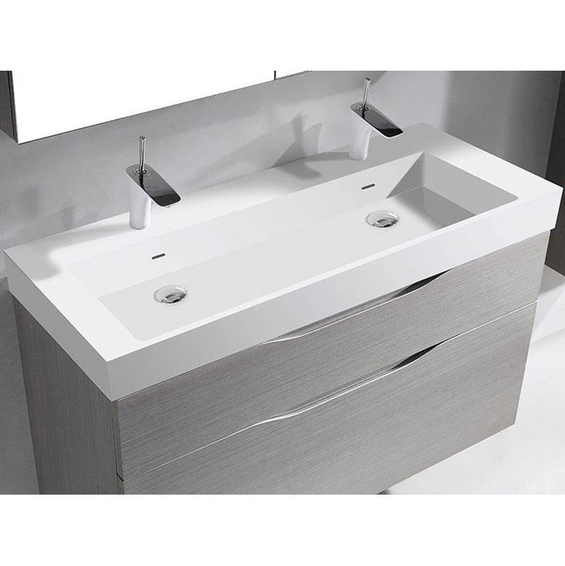madeli 18 d x stone x stone trough sink sink 48 w solid surface