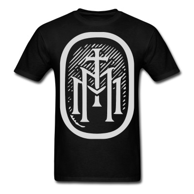 the majestys men tshirt mens tmm bold monogram front black