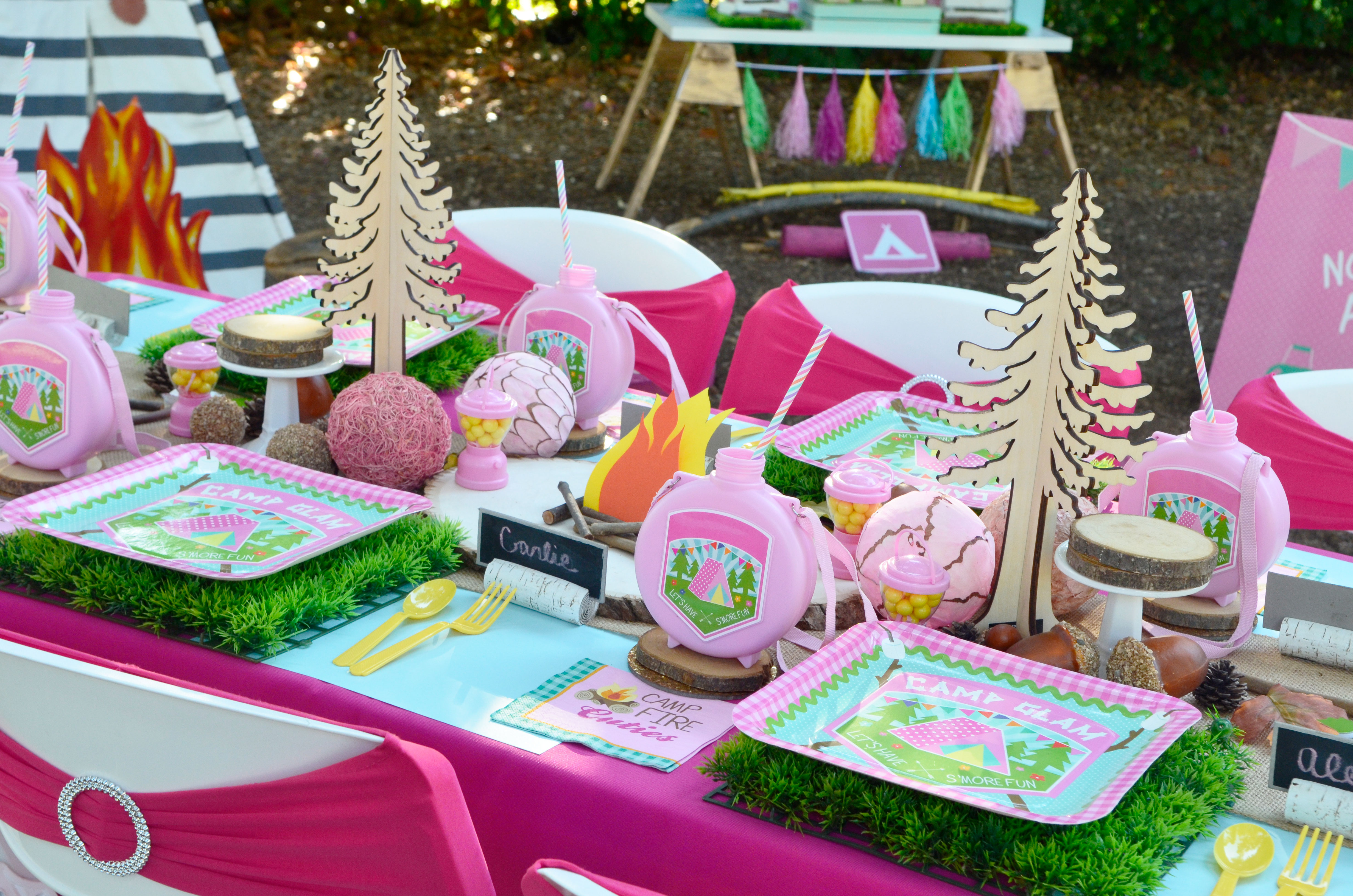 glam camp camping party supplies ideas decorations birthday glamping invitations blog