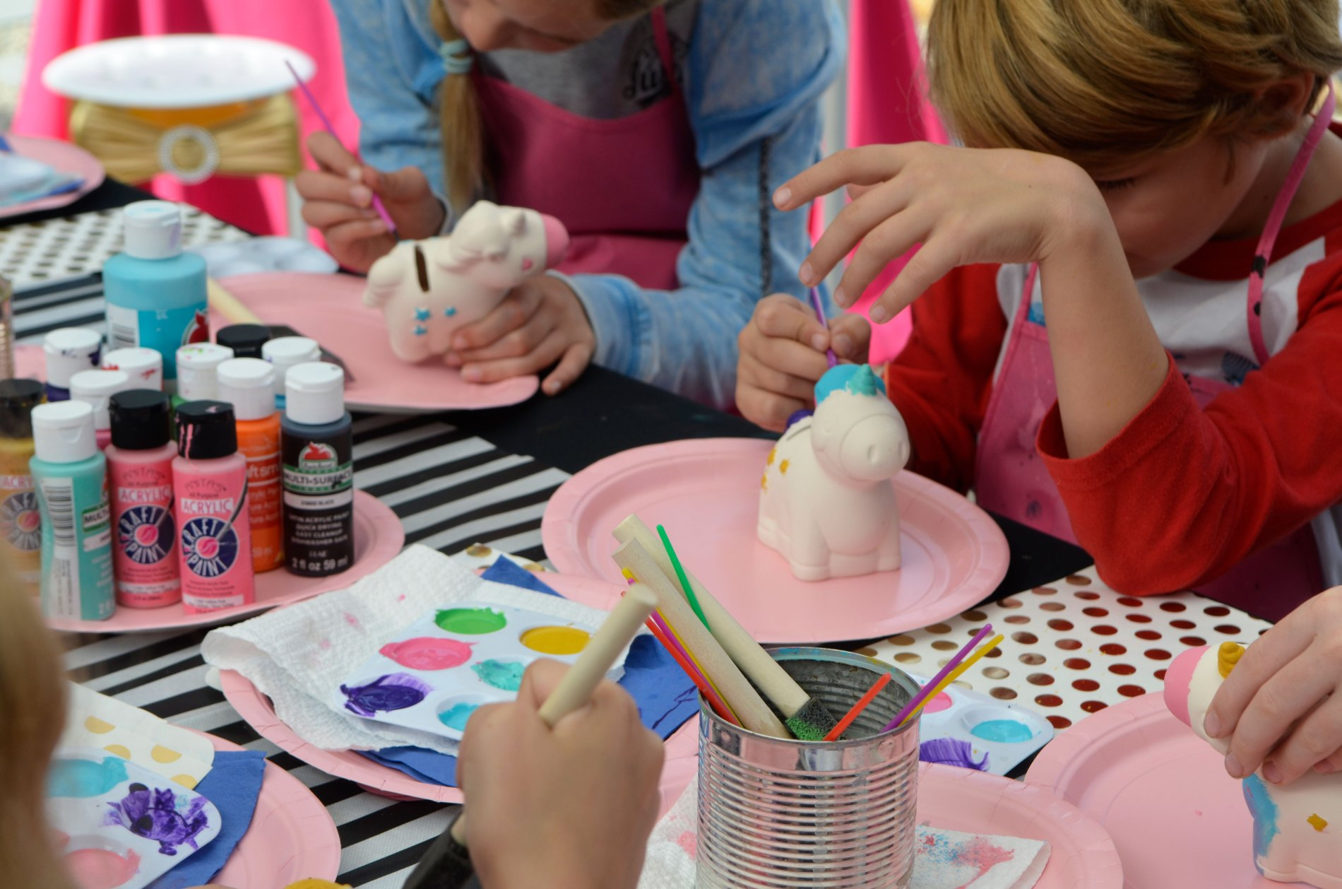 DIY Rainbow Unicorn Paint Party Projects!!