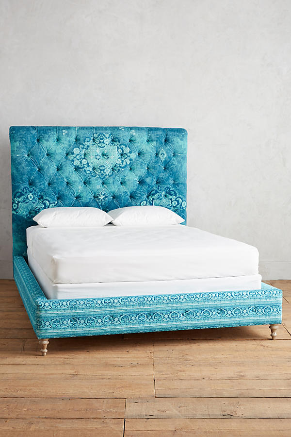 bohemian rustic family home apartment decor ideas diys furniture bed headboard anthropologie the makeover mom blog