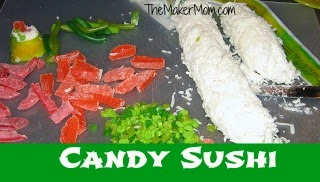 How to make candy sushi from TheMakerMom.com