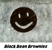 Black Bean Brownies, recipe from www.TheMakerMom.com