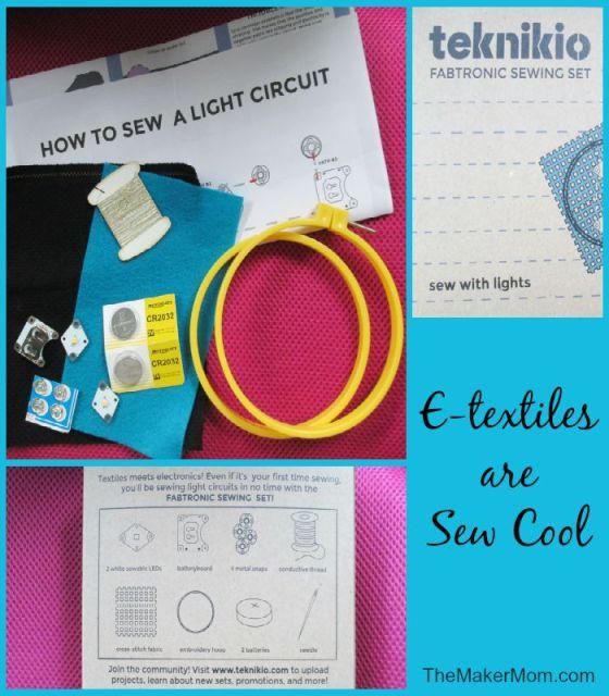 Teknikio's e-textile kit reviewed on www.TheMakerMom.com.
