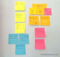 Make a DIY learn-to-code game with TheMakerMom.com and Post-it Products.