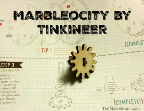 Marbleocity, the made in the U.S.A. wooden DIY marble roller coaster kit reviewed on www.TheMakerMom.com.