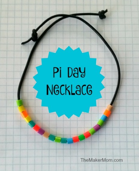 Pi Day necklace complete
