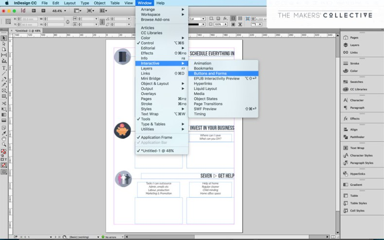 How to Create Interactive Workbooks Using InDesign - Mums