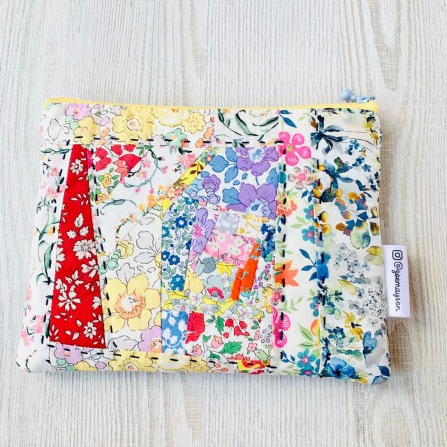 Liberty Patchwork Zip Up Pouch - Zoe Mayson Etsy