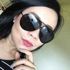 posing with my big black Porsche sunnies