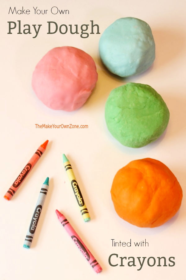 How To Color With Crayons : color, crayons, Homemade, Dough, Recipe