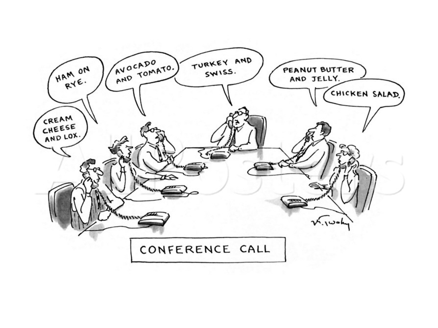 Two marketers walk into a bar and tell conference call