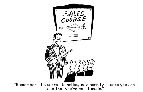 Two marketers walk into a bar and laugh at sales jokes