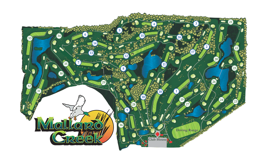 Mallard Creek Course Map